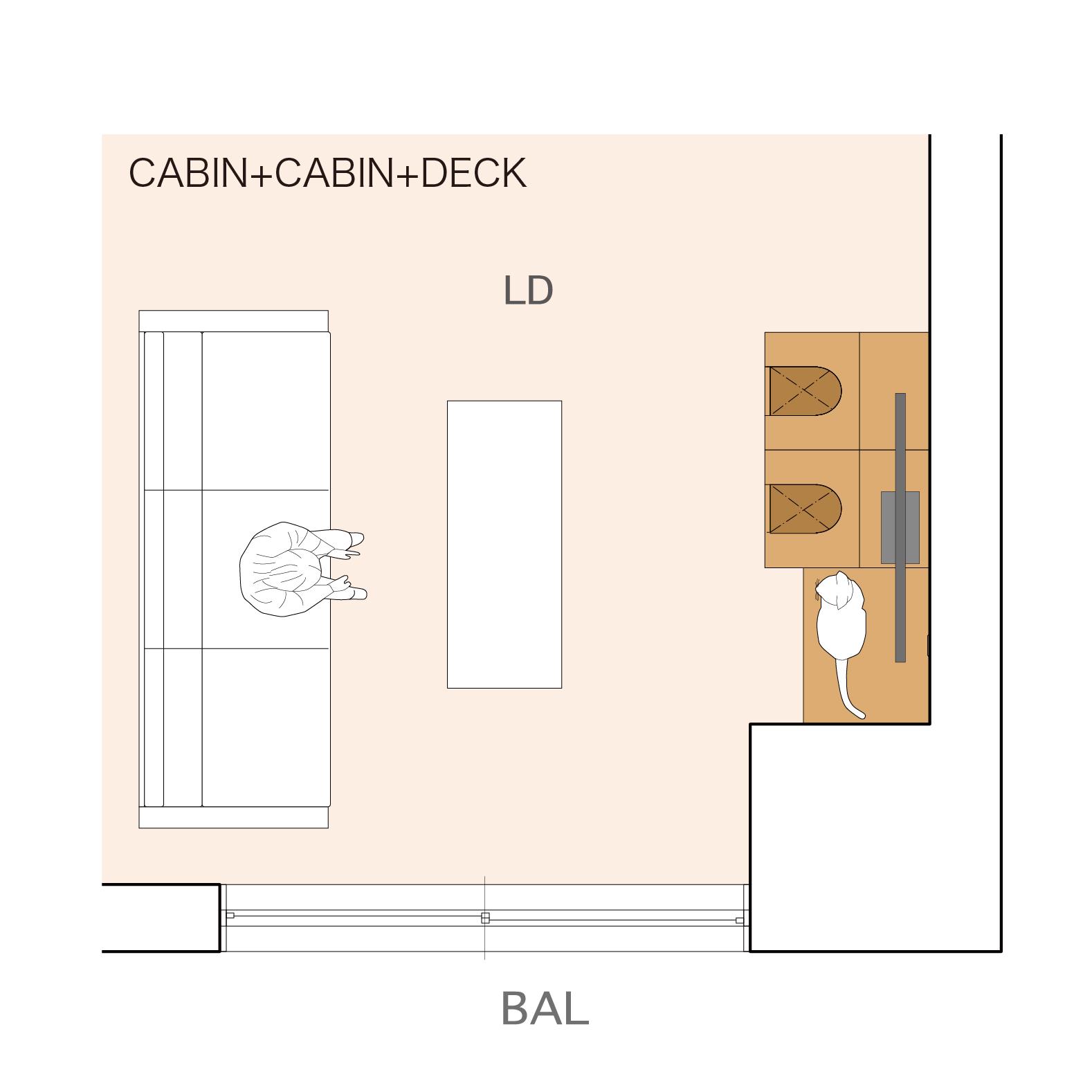 CABIN + DECK + CABIN