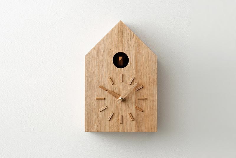 【more trees】鳩時計(クルミ) | 無垢 木製 掛け 時計 インテリア|