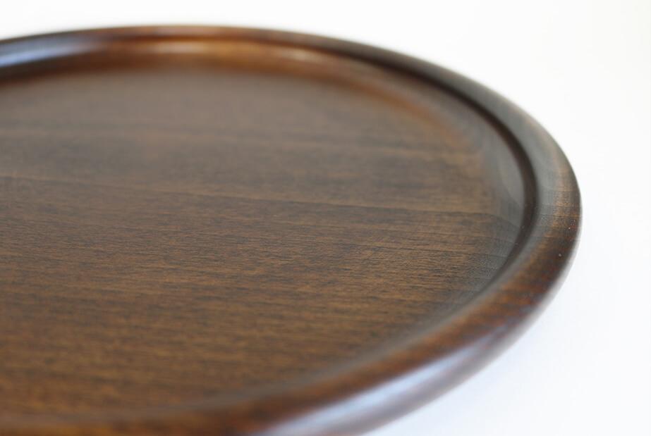 シェーヌ・ドゥ プレート | 無垢 木の器 木製 皿 カフェ食器 拭き漆 直径24cm|