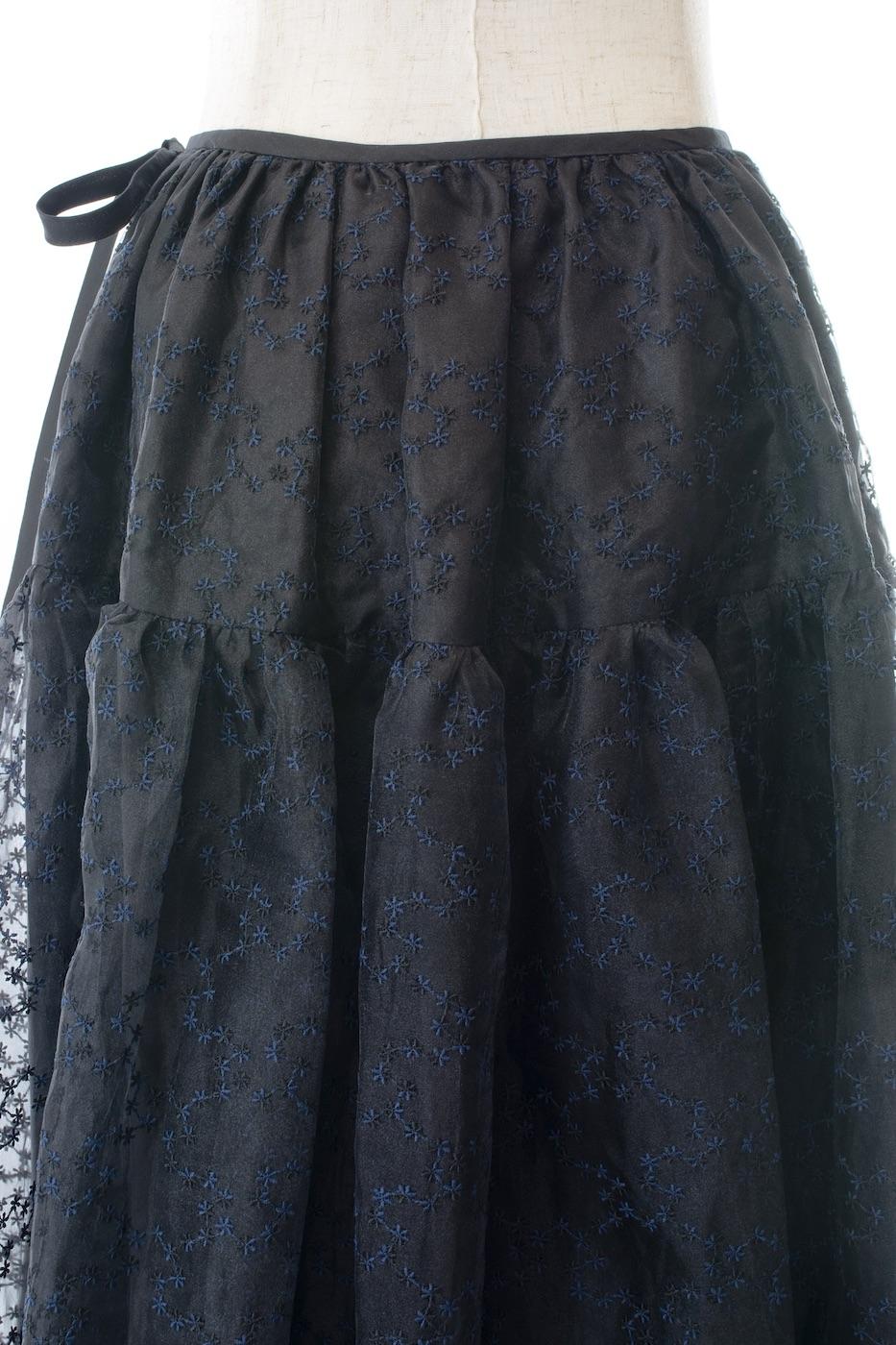 チュールミディスカート/ブラック【残りわずか】