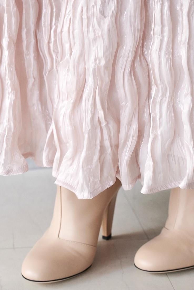 ピンククリンクルスカート