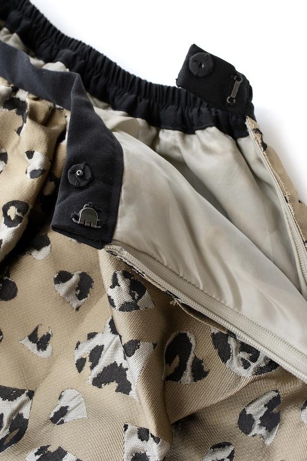 ハートレオパードスカート