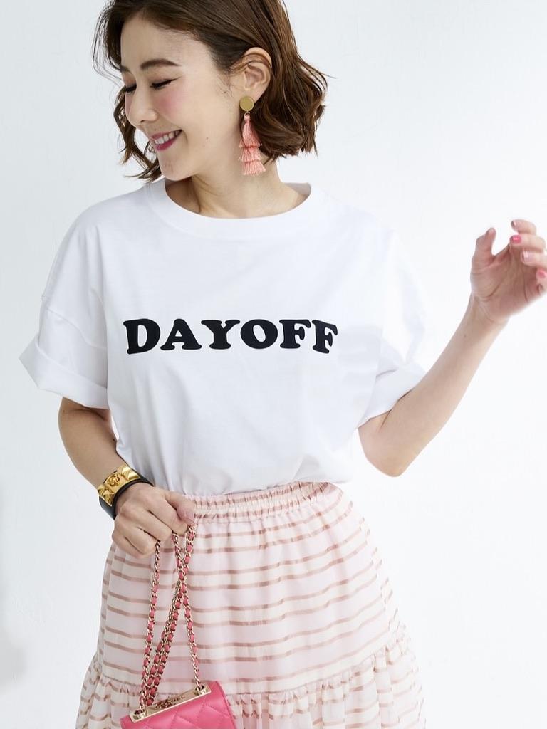 オーガンジーストライプスカート/ピンク
