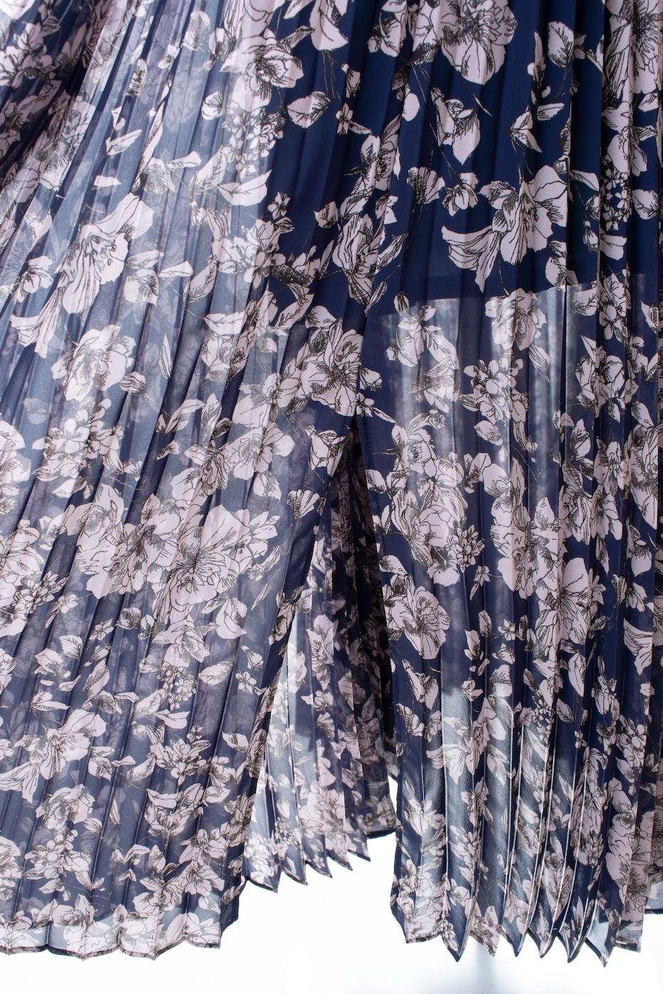 シフォンプリーツスカート/ネイビー【残り2点】