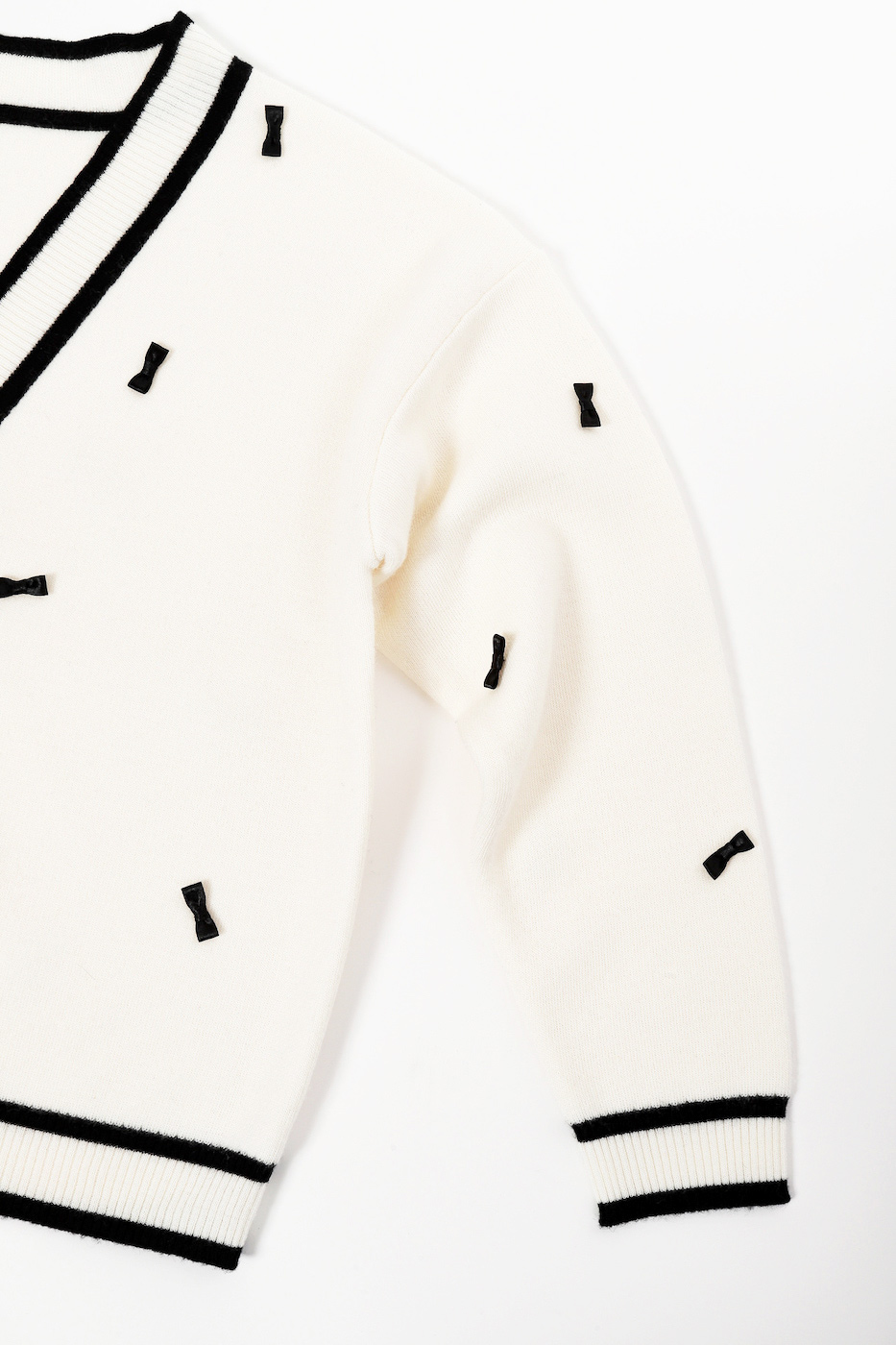 【予約:12月初旬お届け分】リボンカーディガン/ホワイト