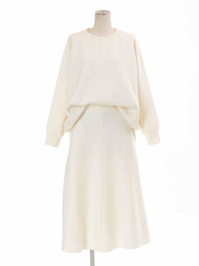 フレアウールスカート/ホワイト