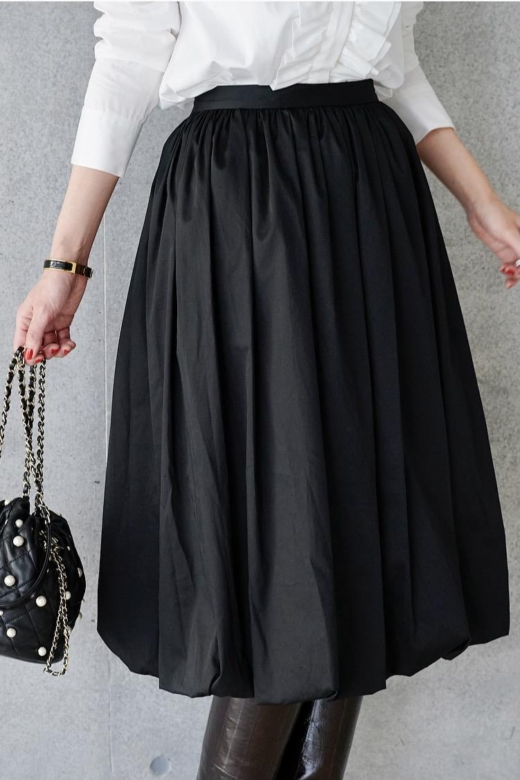 バルーンスカート/ブラック
