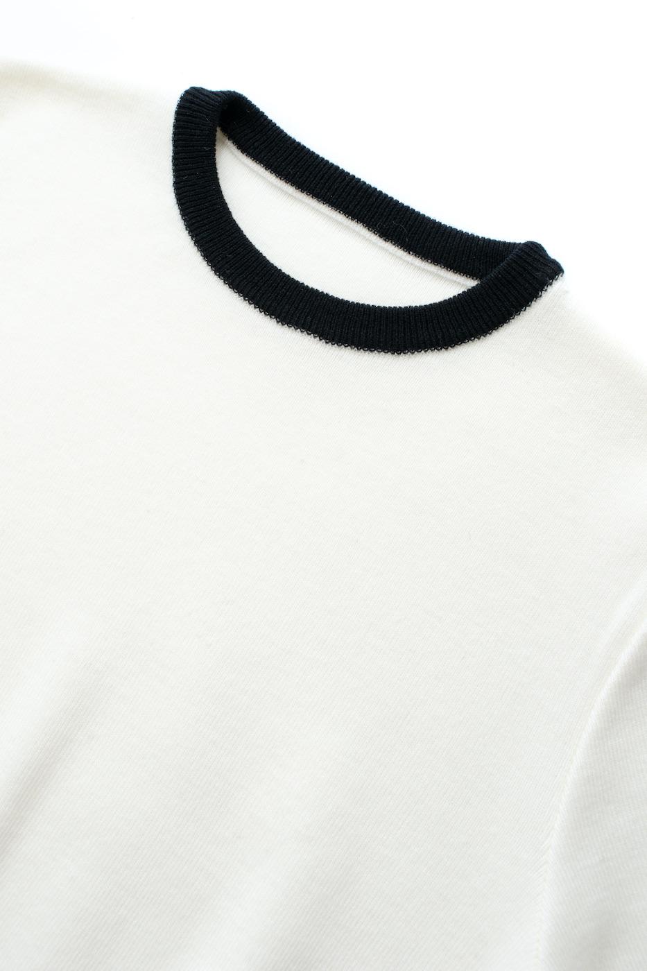 バイカラーニット/ホワイト【残り1点】