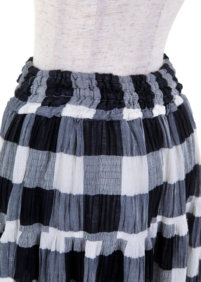 ブロックチェックマキシスカート