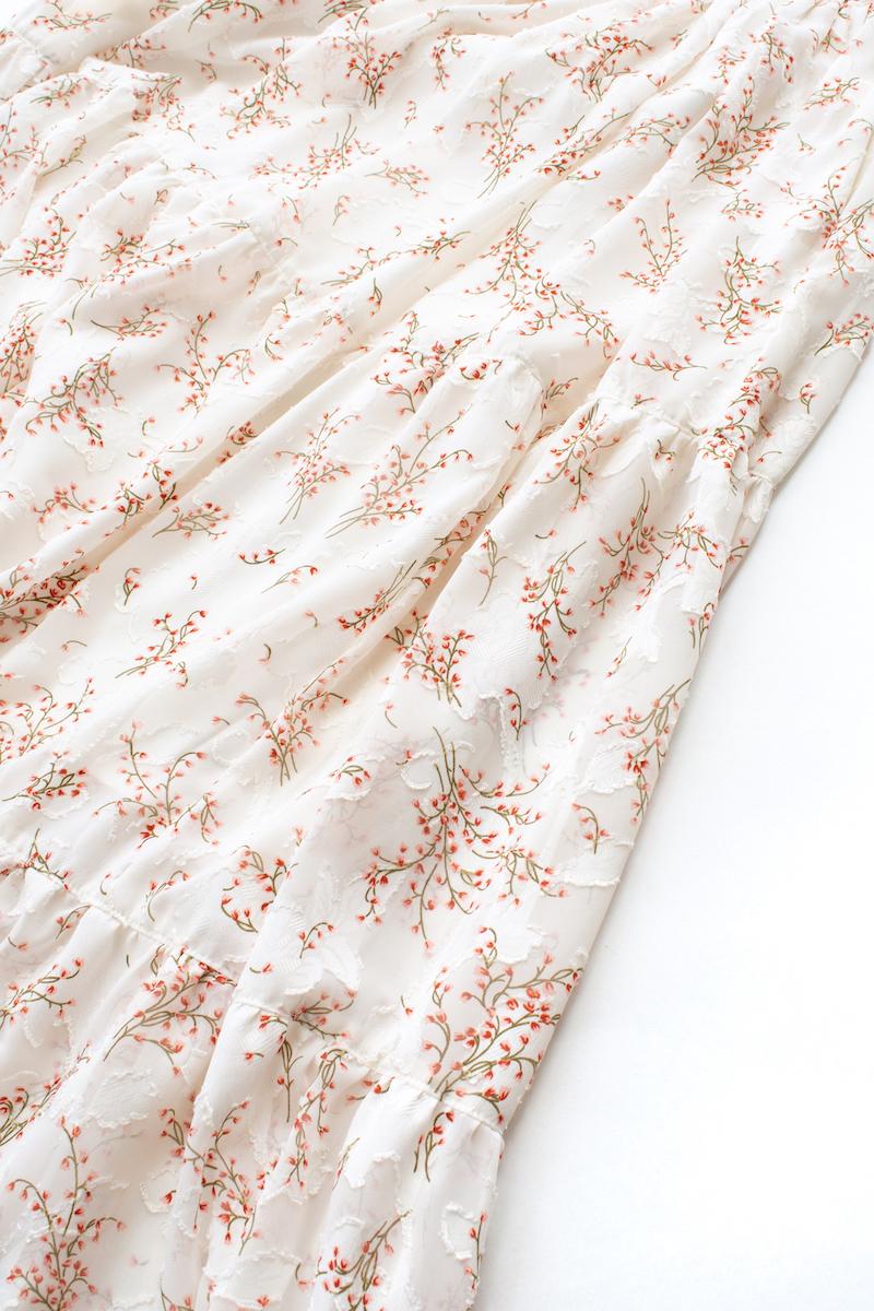 シフォンティアードスカート/ホワイト【残り3点】