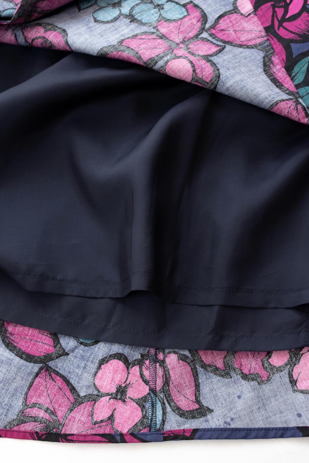コットンフラワースカート/ネイビーピンク【残り2点】