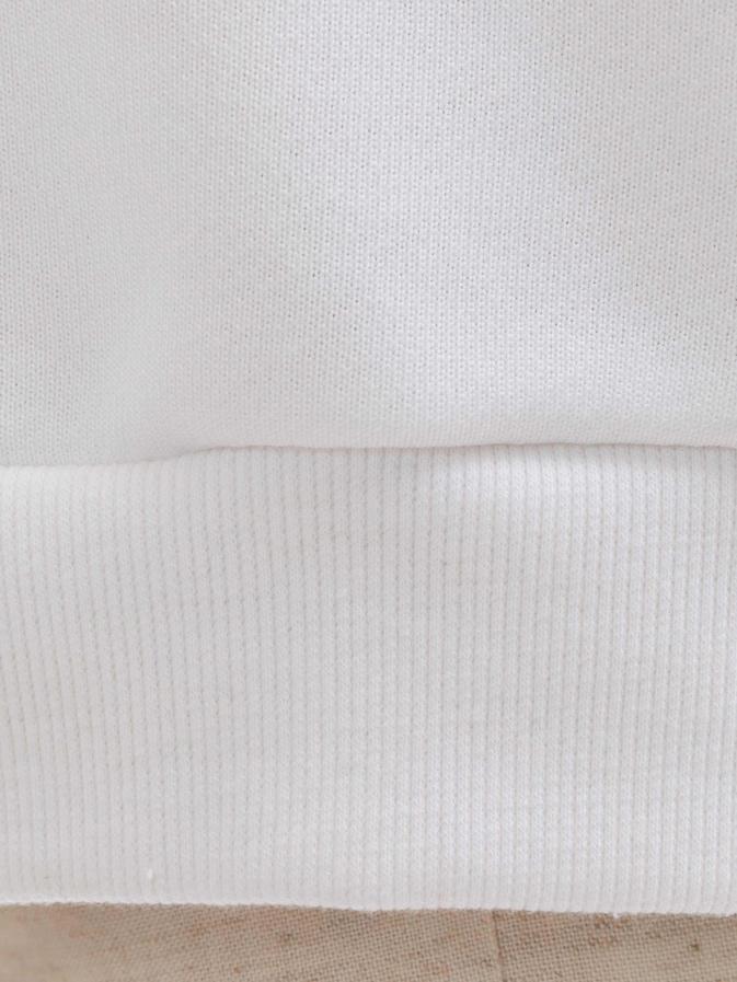ロゴプルオーバー/ホワイト