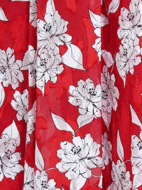 フラワーギャザースカート/レッド