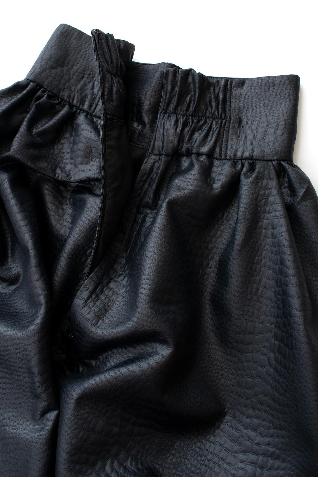 ハイウエストレザースカート