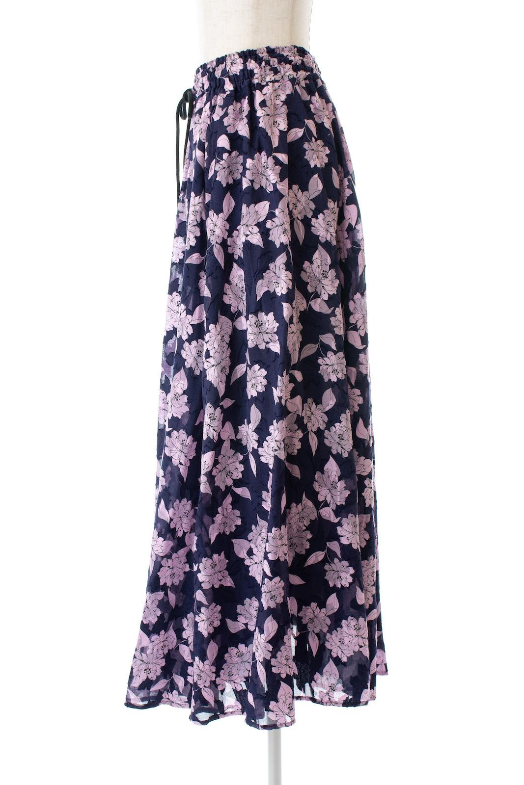 フラワーギャザースカート/ネイビー