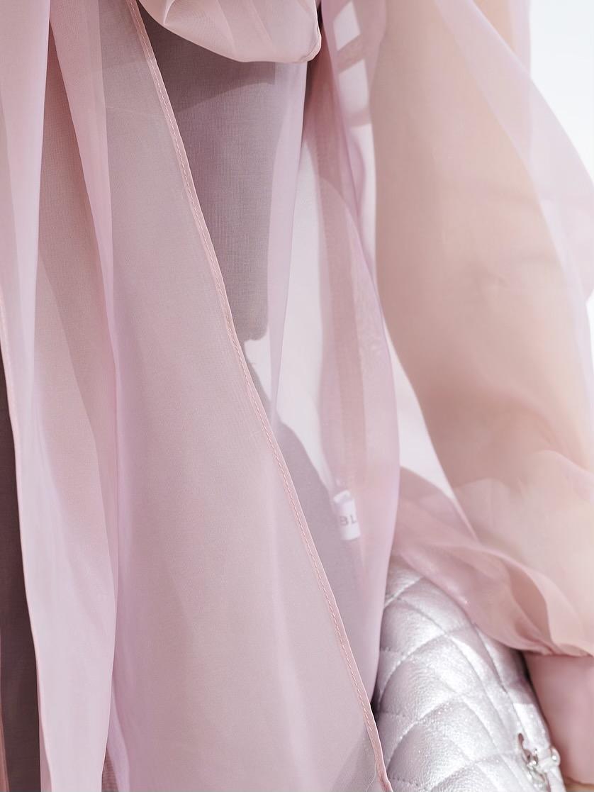 オーガンジービッグリボンブラウス/ピンク