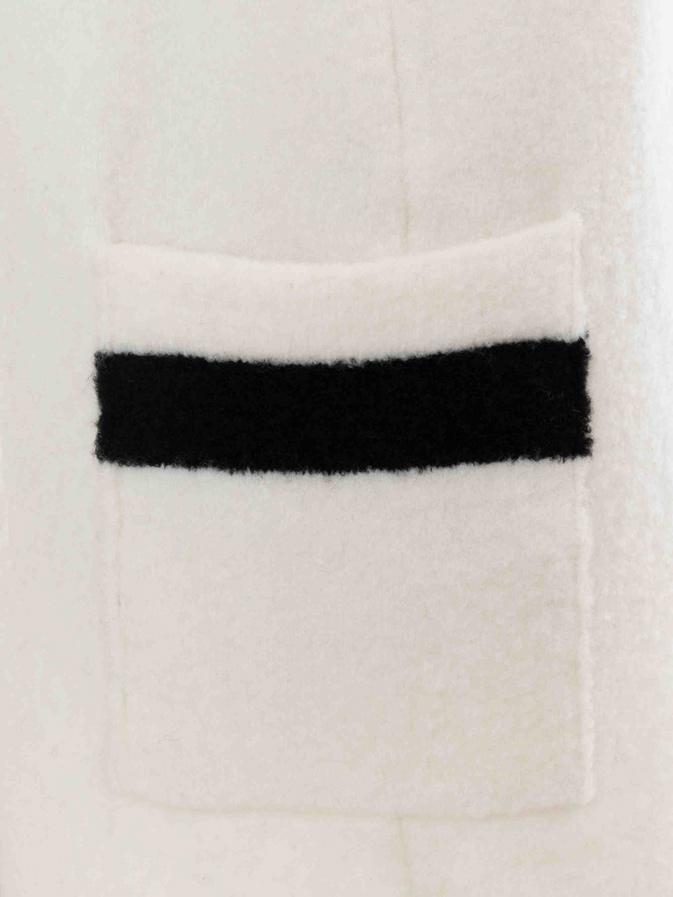 バイカラーロングカーディガン/ホワイト