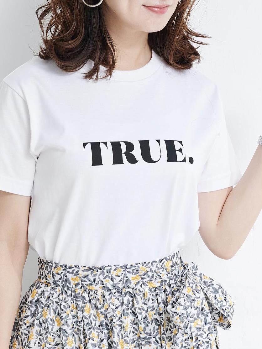 TRUE Tシャツ/ホワイト×ブラック【残りわずか】