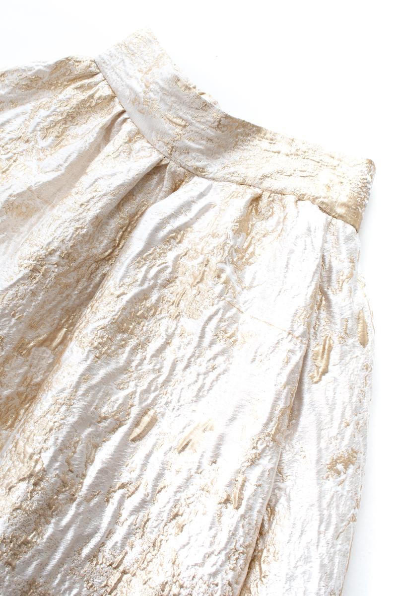 箔ジャガードスカート/ゴールド