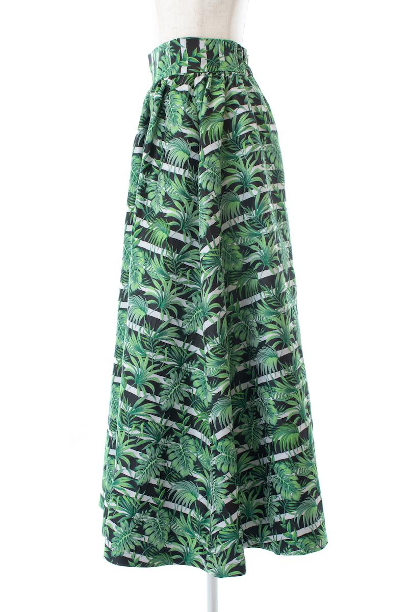 リーフストライプジャガードスカート