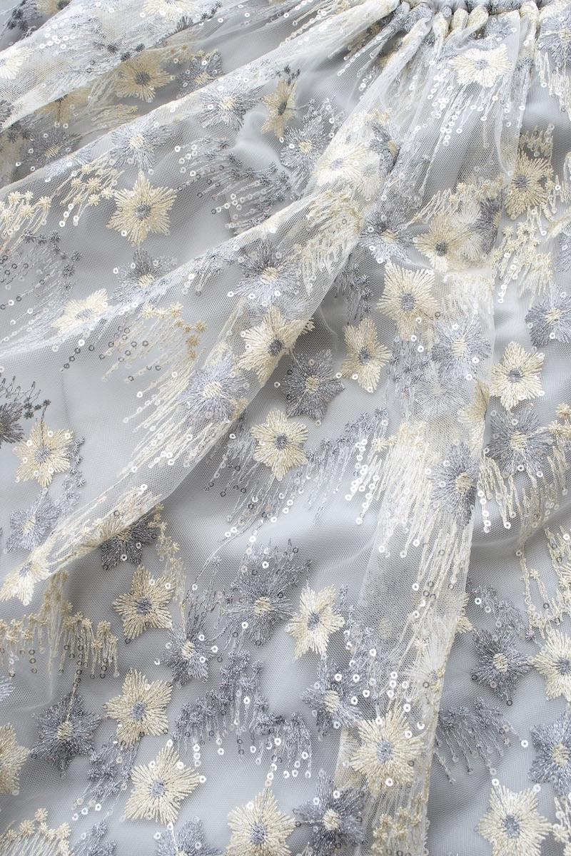 スパンコールチュールスカート/シルバー