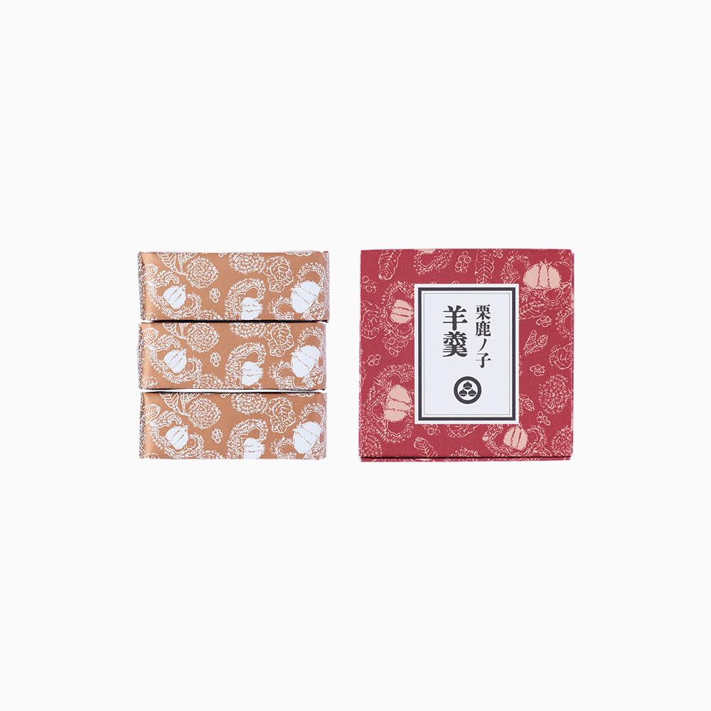栗鹿ノ子羊羹 ミニ(3本入)