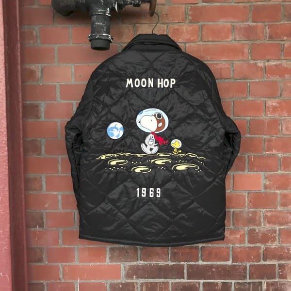 Lot No_TT14470 TAILOR TOYO × PEANUTS MOON HOP ベトナムライナージャケット 119(ブラック)