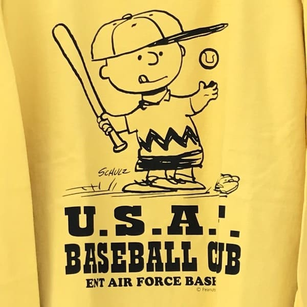 "Lot No_BR68357 BUZZ RICKSON'S × PEANUTS  ロンT ""USAF BASEBALL CLUB"""