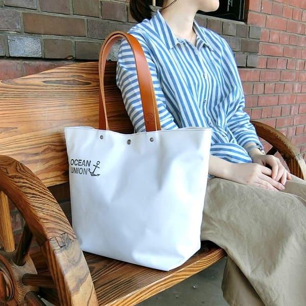 横浜帆布鞄 × OCEAN UNION ボート トート バッグ