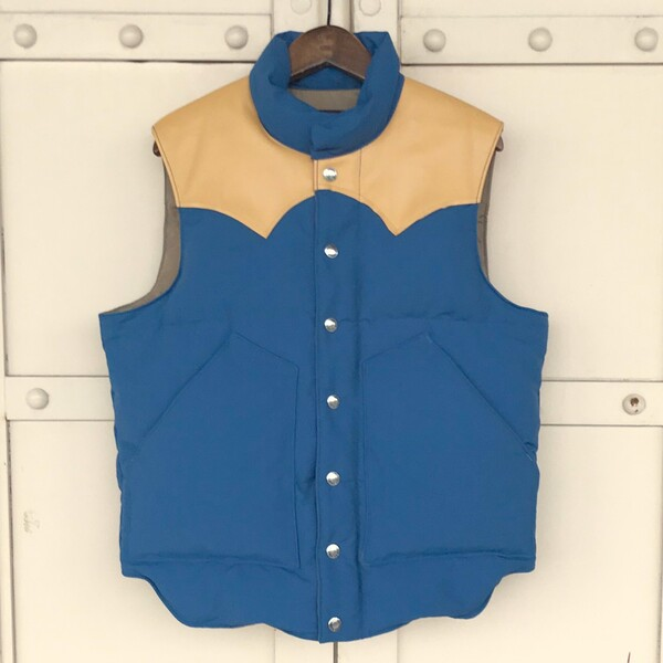 Lot No_SC12340 SUGAR CANE NYLON/COTTON LEATHER YOKE DOWN VEST