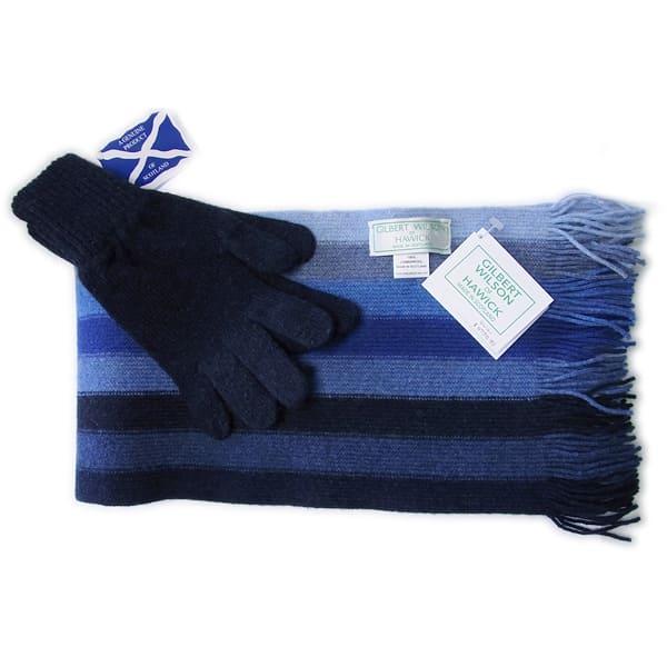 GILBERT WILSON / ストライプウールマフラー&手袋セット