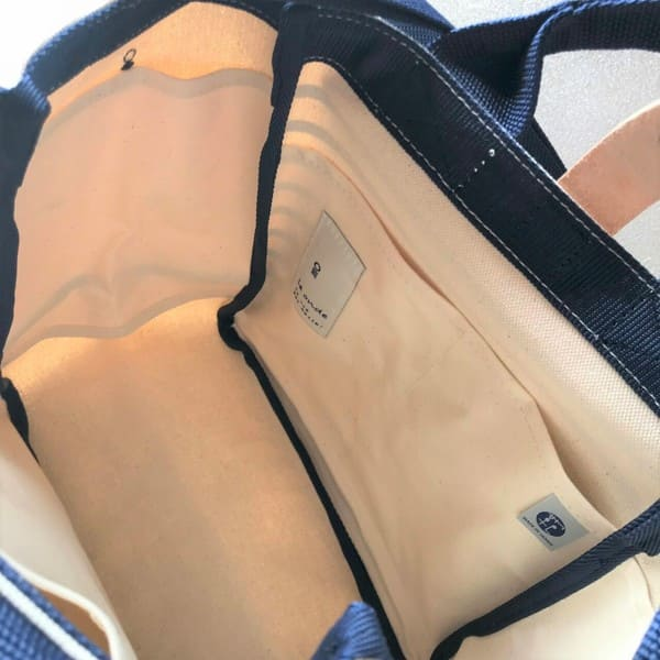 le onde(ルオンド)6号帆布×ボーダープリント 2way shoulder(S)