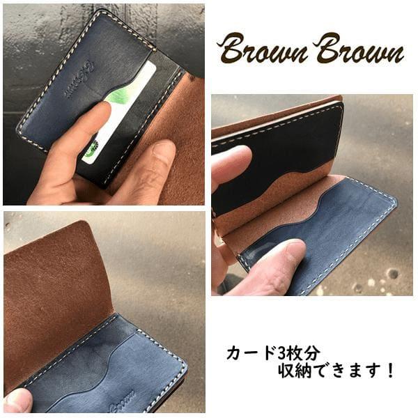 Lot No_BBL680 / BrownBrown (ブランブラン) Mr.Brown カードケース (カード3枚収納)