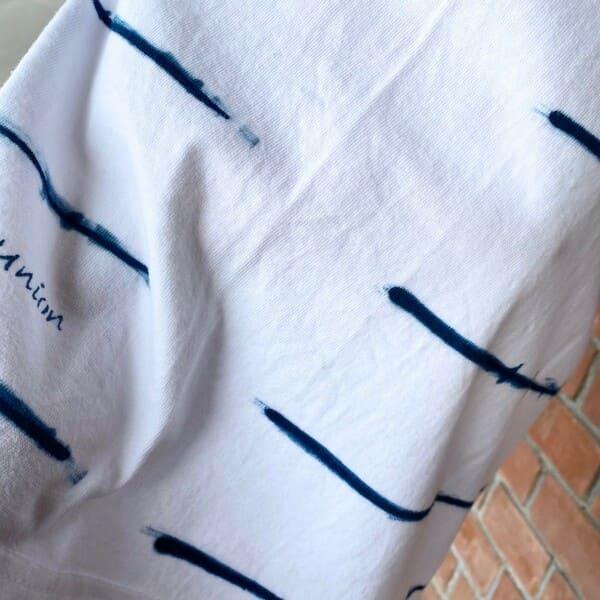 OCEAN UNION  オリジナル 藍染T 手描きボーダー柄 Tee
