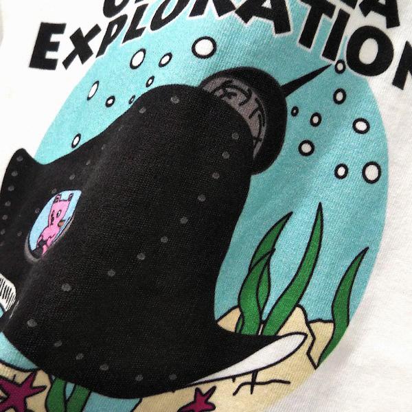 OCEAN UNION / Marine Department デザイン プリント Tシャツ