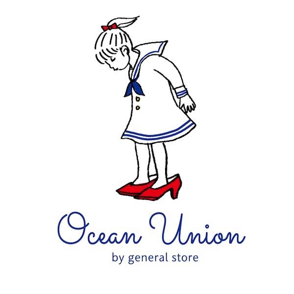 "Lot No_CRS01 / OCEAN UNION Marine Department デザイン プリント Tシャツ ""赤い靴 """