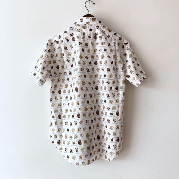 CLOFT /メンズ シアサッカー(DOG柄)半袖シャツ