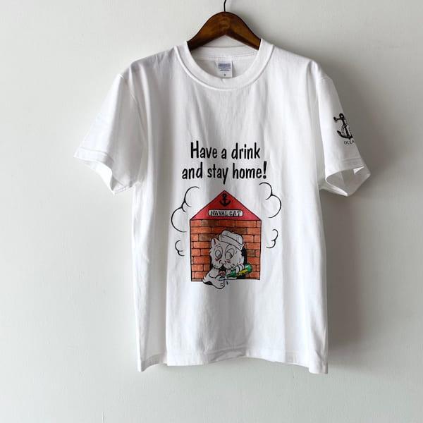 Lot No_TT04 / OCEAN UINION ナーバルキャット Tシャツ(Stay Home!)