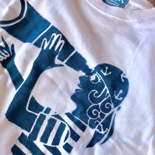 OCEAN UNION×LEVEL INDIGO / オリジナル 藍染め セーラーガール Tee