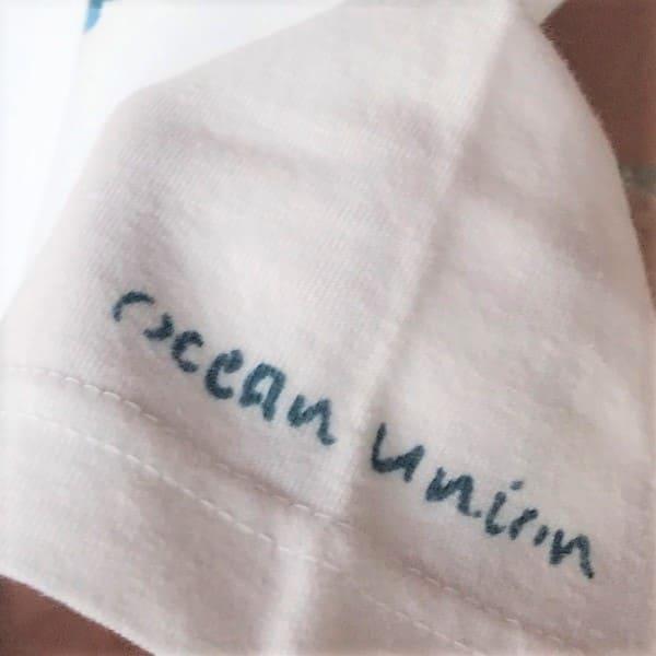 OCEAN UNION×LEVEL INDIGO / オリジナル 藍染め イカリスター Tee