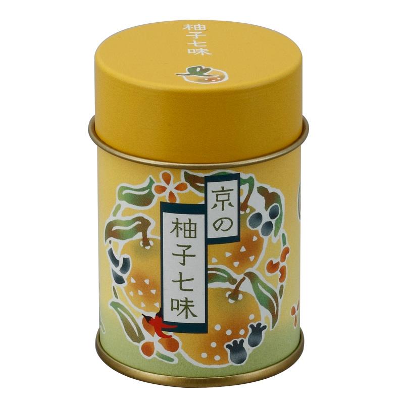 柚子七味 缶