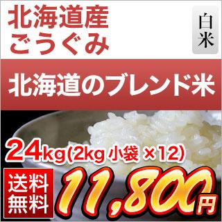 30年 北海道産 ごうぐみ(合組)白米  24kg(2kg×12袋)【送料無料】