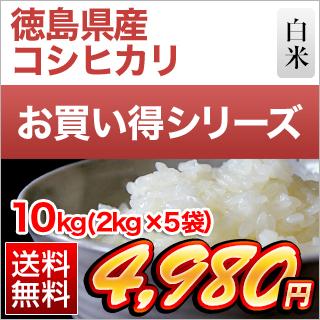 令和3年(2021年) 新米 徳島県産 コシヒカリ 白米 10kg(2kg×5袋)【送料無料】【米袋は真空包装】