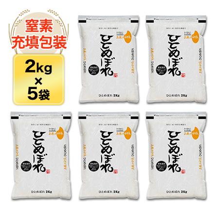 令和元年 (2019年) 岩手県産 ひとめぼれ〈特A評価〉10kg(2kg×5袋)白米【送料無料】