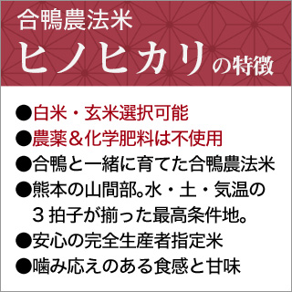 令和元年産(2019年) 合鴨農法米 ヒノヒカリ〈特A評価〉 10kg(2kg×5袋)【送料無料】【白米・玄米 選択】 農薬及び化学肥料は一切不使用