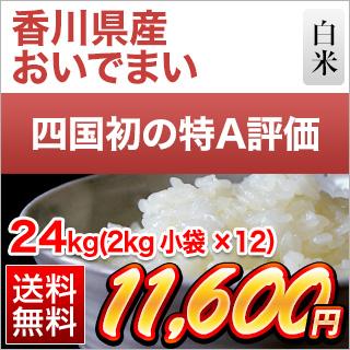 令和2年(2020年) 香川県産 おいでまい<特A評価> 24kg(2kg×12袋) 【送料無料】【白米】【米袋は真空包装】