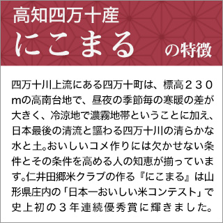 令和2年(2020年) 高知産 にこまる〈日本一おいしい米コンテスト 全国第二位 優秀金賞受賞〉〈5年連続特A評価〉 300g(2合) × 3個セット 真空パック【白米・ゆうパケット便送料込】