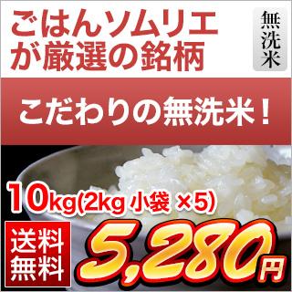 令和元年産(2019年) くりやの無洗米 徳島県産 コシヒカリ 10kg(2kg×5袋)【送料無料】【白米】【米袋は真空包装】