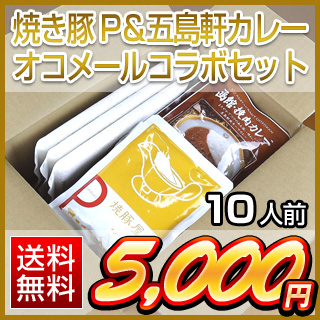 超お買得カレーセット食べ切り10人前セット (オコメール5袋+挽肉カレー5袋+焼き豚カレー5袋)送料無料
