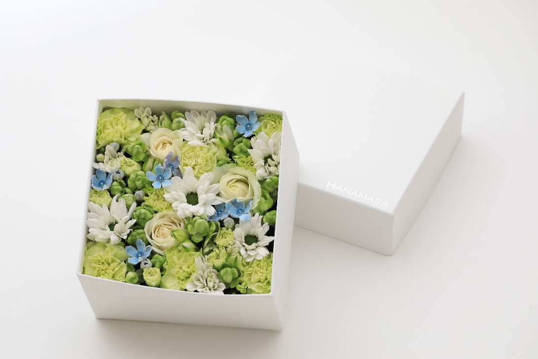 白い箱のボックスアレンジメント S